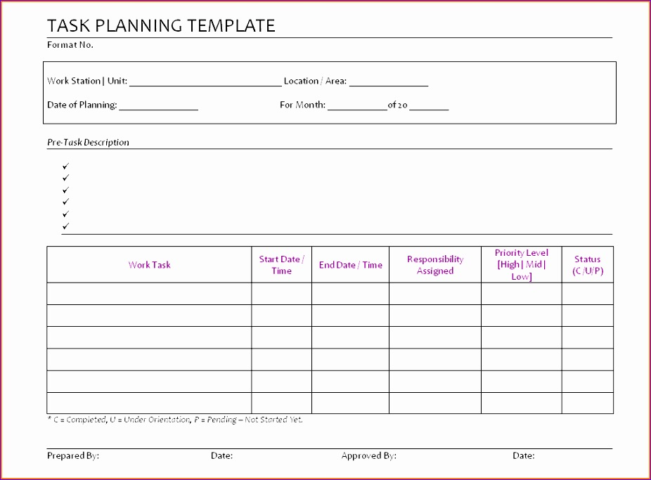 5 daily task list template 926683