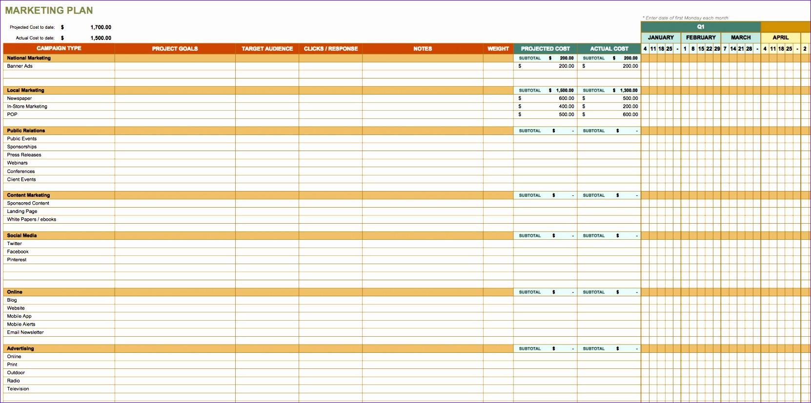 marketing spreadsheet template 1662827