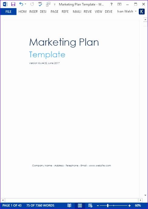 marketing plan templates 488690
