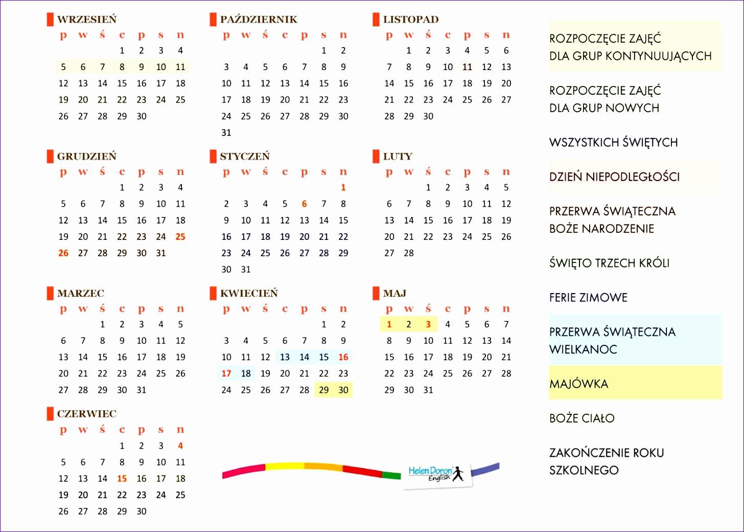 kalendarz excel 2016 14561040