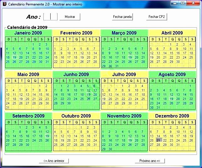 Calendario Permanente 643536