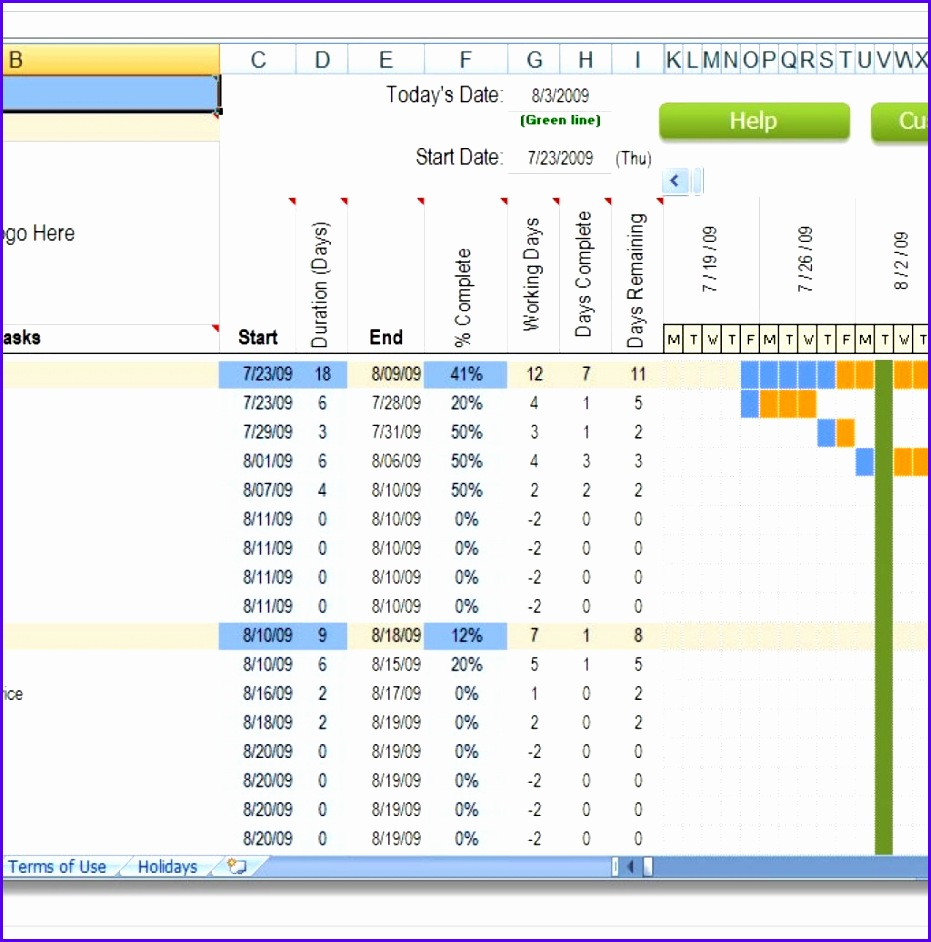 Excel Construction Schedule Templates Regarding Project Schedule Template  Excel Free  Project Schedule Templates
