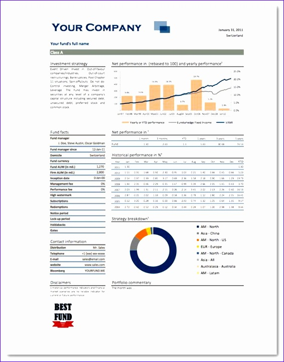 free excel template monthly report blue 566721