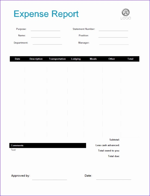 free expense report template 1495 591772