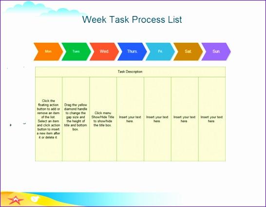 week task process list 546426
