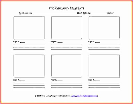storyboard template word storyboard template 464364