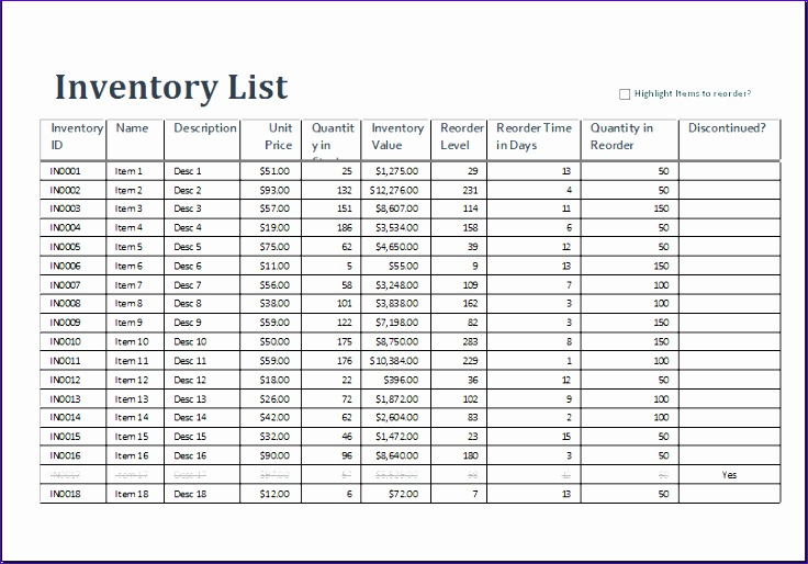 excel inventory sheet template 736514