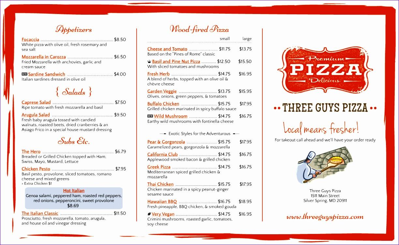 7 tri fold menu template