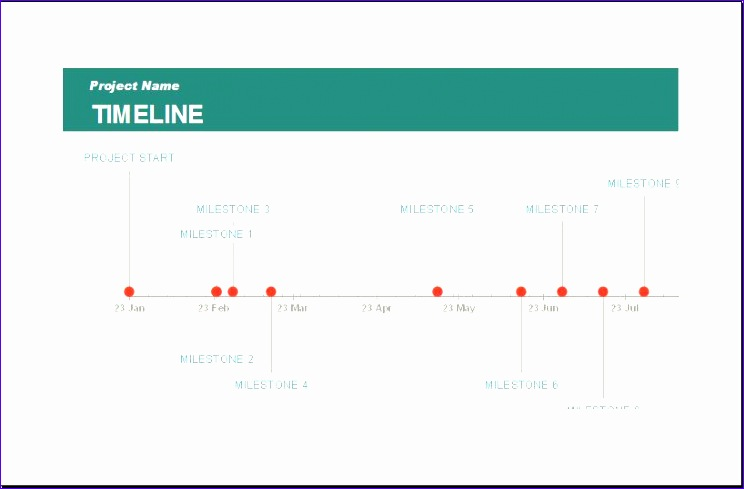 business project schedule timeline templates 744489