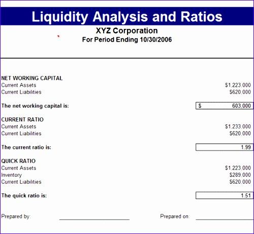 liquidity analysis ratios 31 500461