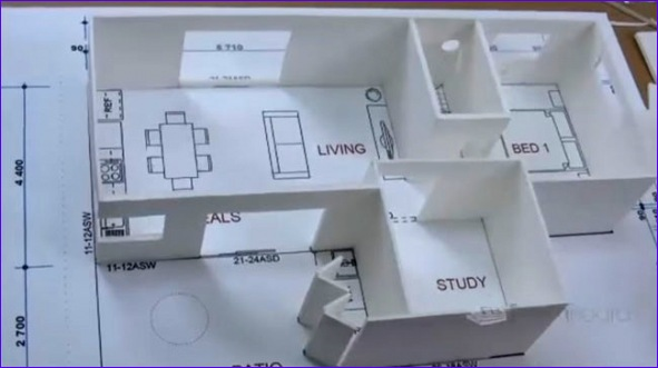 3d house plan building foam board models making house scale model