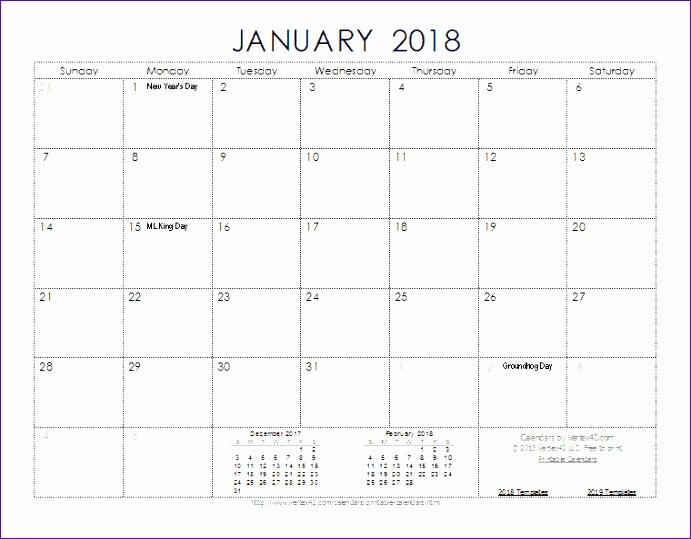 free printable monthly calendar 2018 691539