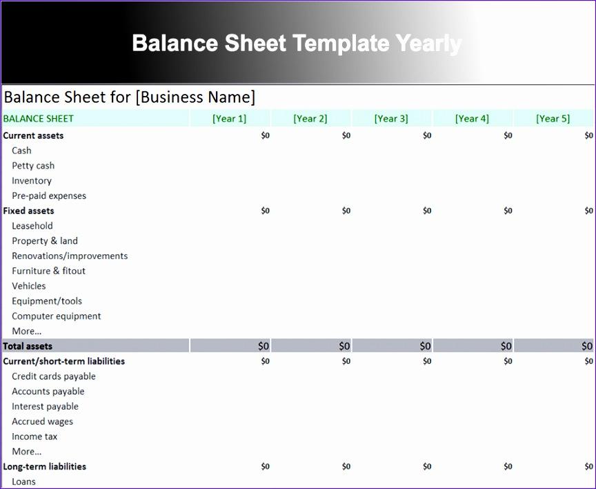 balance sheet template 864708