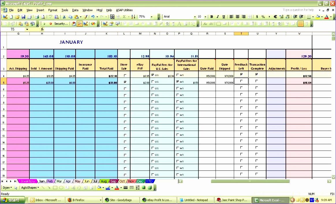 ebay spreadsheet template 1164706