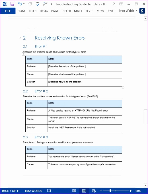troubleshooting guide template 520682