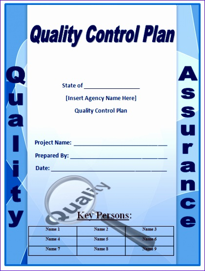 quality plan template 1580 420555