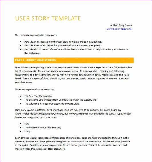 user story template 532567