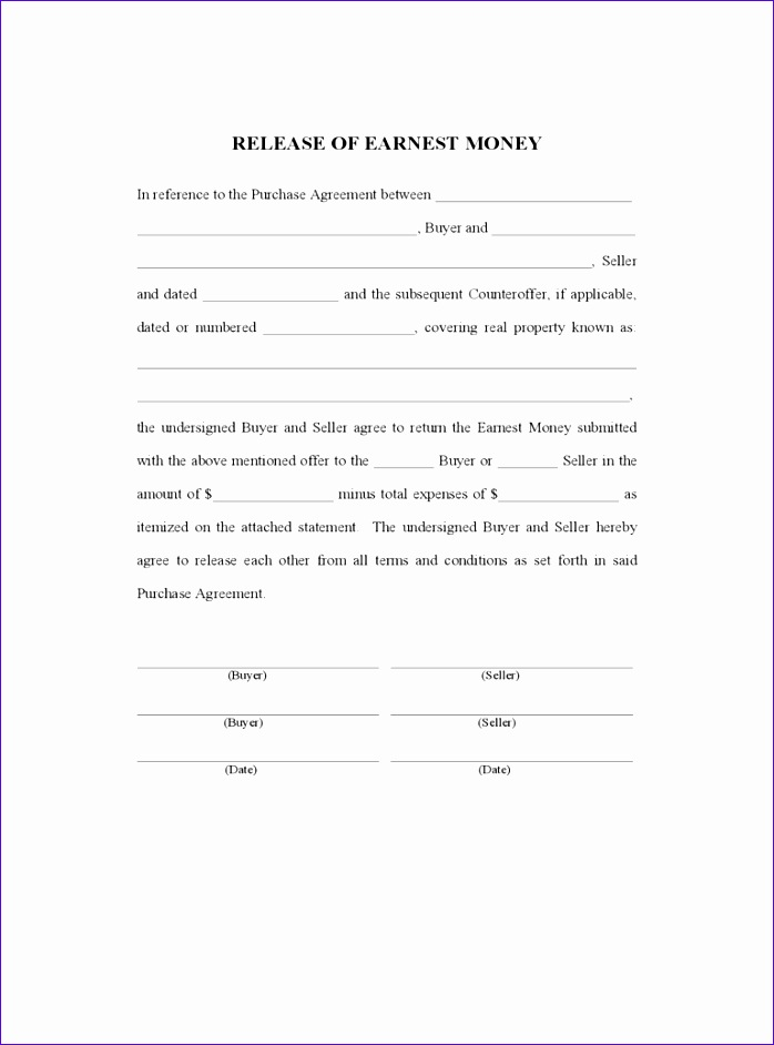 earnest money contract form 698942