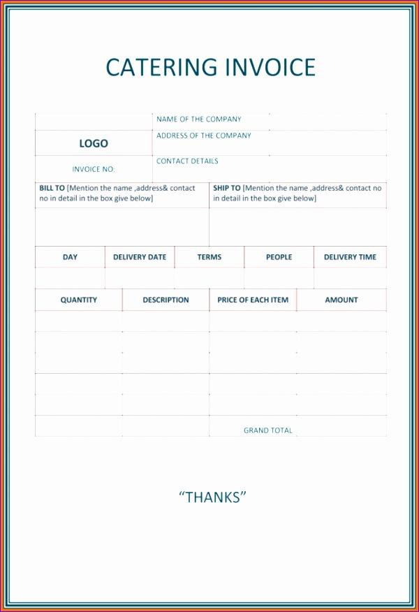 6 food invoice template 2