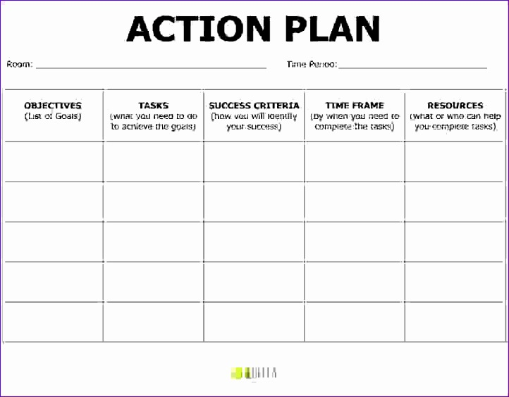 5 action plan templates 722564