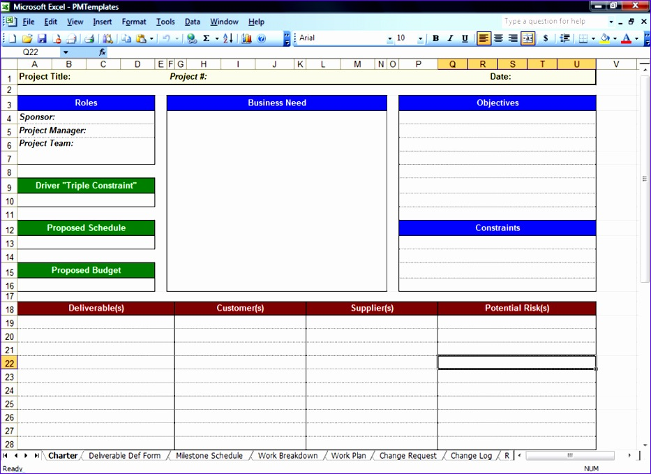project management excel template 933679