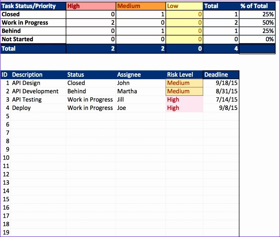 project management calendar excel
