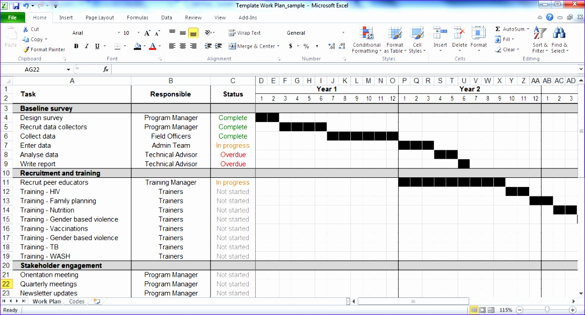 Free Project Plan Template Excel  Exceltemplates  Exceltemplates