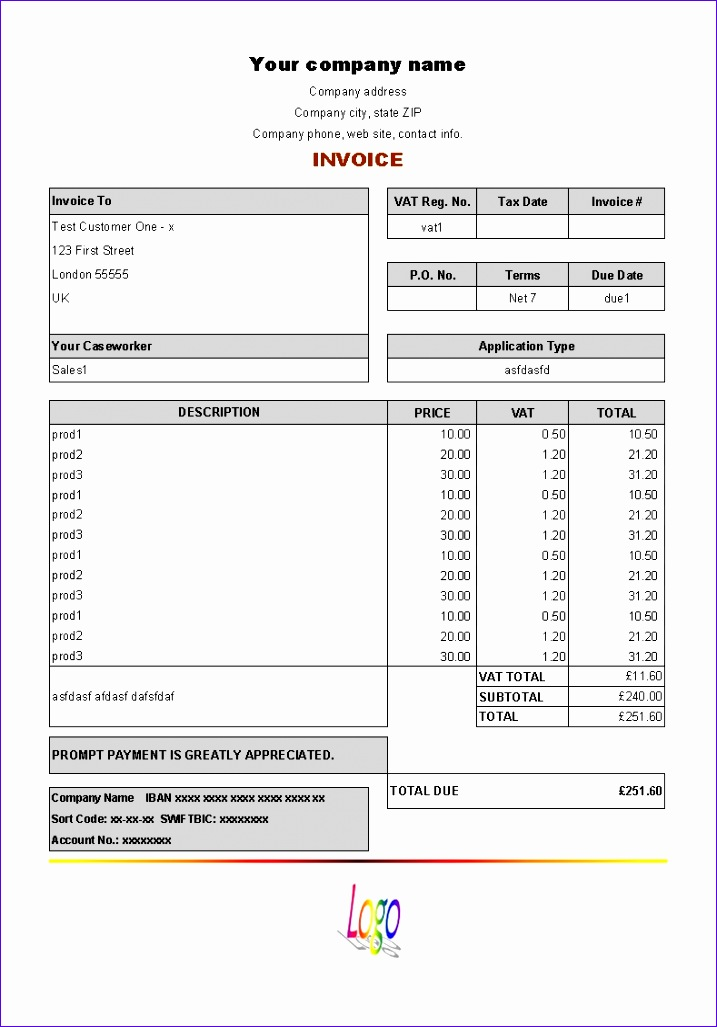 sample purchase invoice 7171027