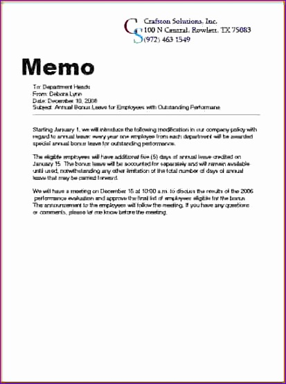 how to write a business memo letter 413555