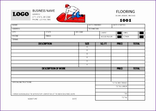 carpet installation invoice template 516370