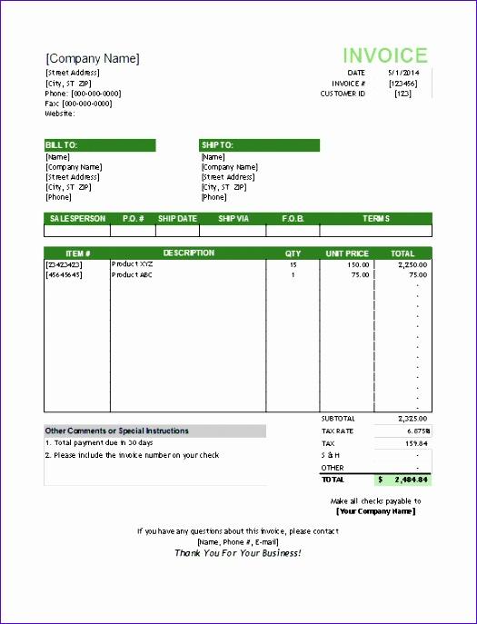 deposit invoice template 2440 525687