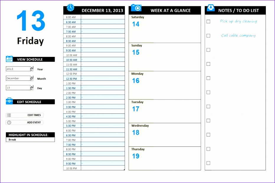 11 free agenda template excel 3 931621