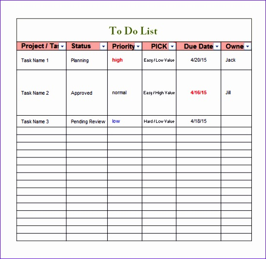 to do list template 546533