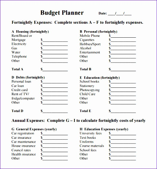 bud planner template 527570