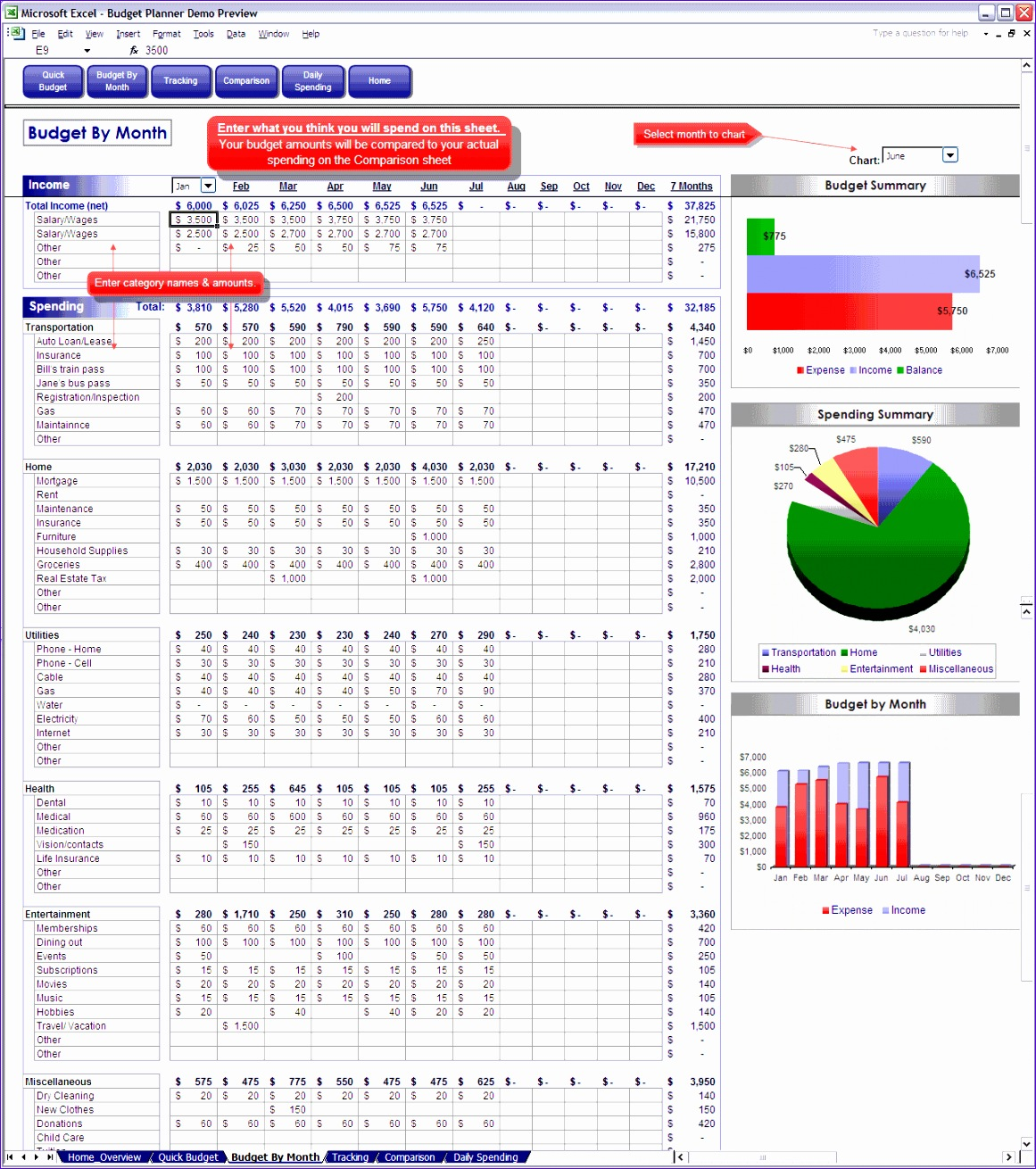 bud ing in excel spreadsheet 11611310