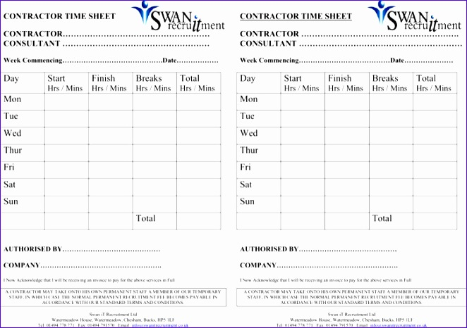 contractor timesheet templates 662466