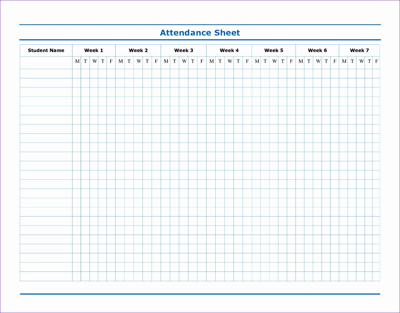 attendance template word 15011173