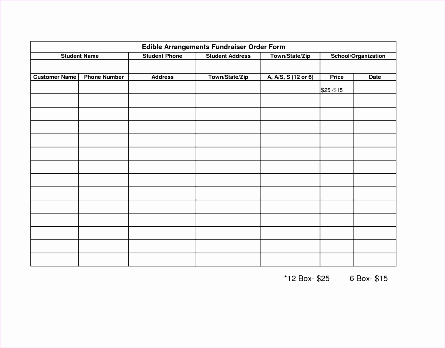 post fundraiser order form template excel 15011173