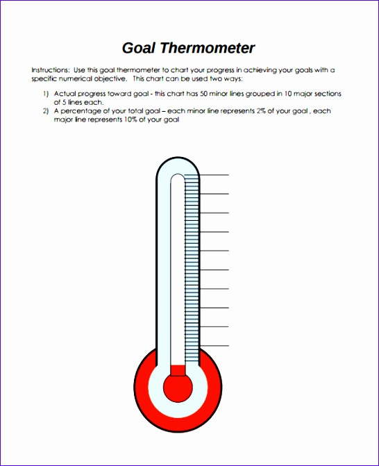 Fundraising Thermometer Template Excel  Exceltemplates