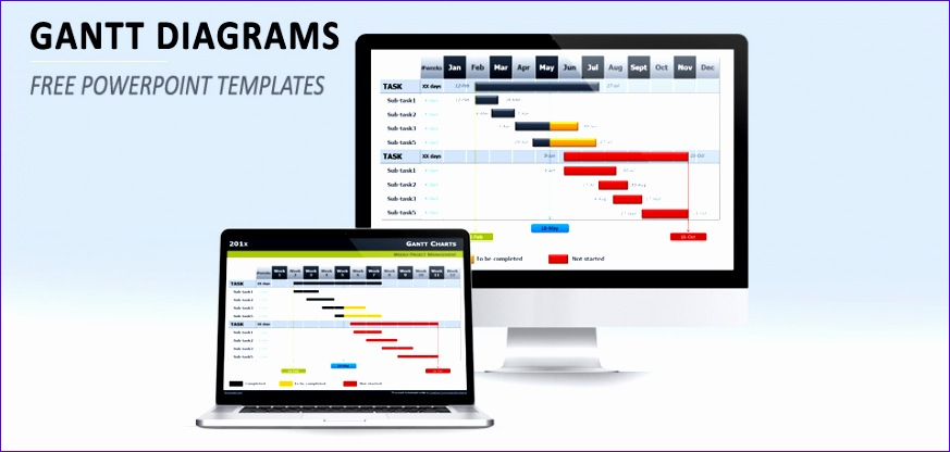 free gantt chart template powerpoint 873416