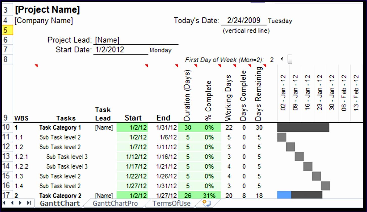 gantt chart template pro giveaway 1456841
