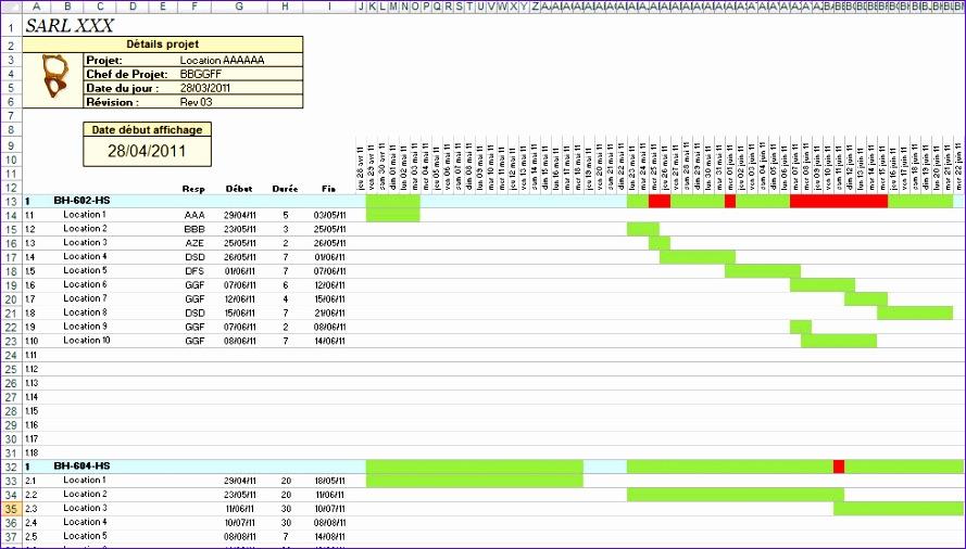 12 Gantt Chart Excel 2010 Template