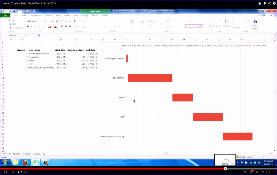 5 how to create a gantt chart in excel 2013 933590