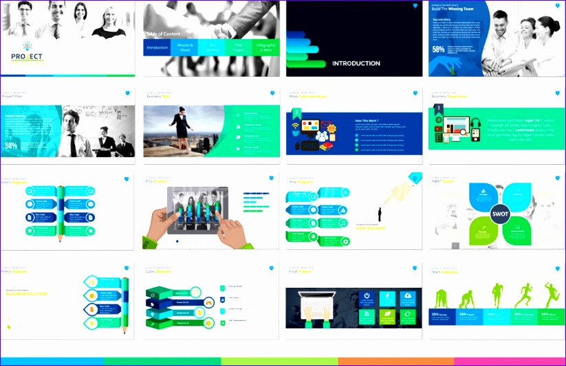 mod project presentation template free