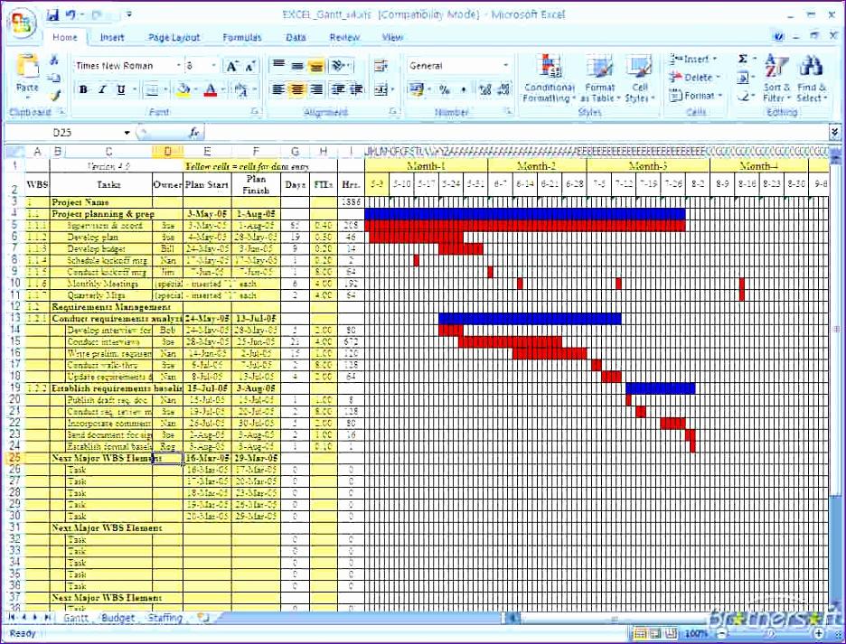 4 free gantt chart template 936713