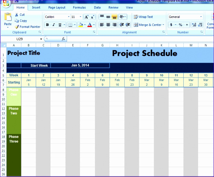 5 excel project schedule template 2