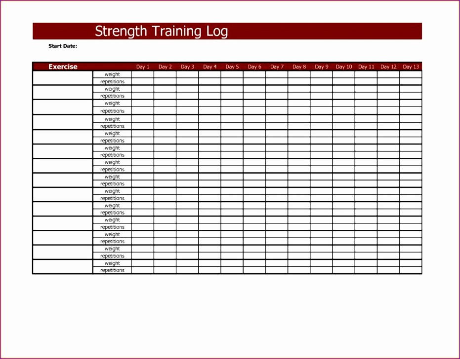 training spreadsheet template 2 931728