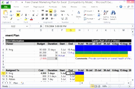free channel marketing plan template for excel 527349
