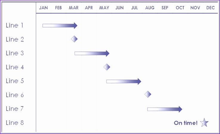 blank 12 month timeline template 737448