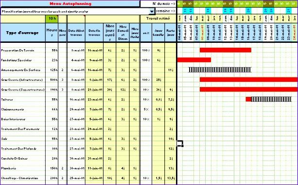 planning gantt modifiable en excel 613380